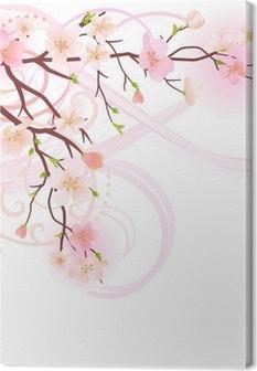Tableau sur toile Blossoming élément de conception d'arbre