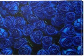 Tableau sur toile Blue roses