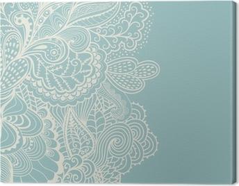 Tableau sur toile Bordure de l'élément décoratif. Résumé carte d'invitation. Modèle wa