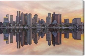 Tableau sur toile Boston skyline panorama du centre-ville
