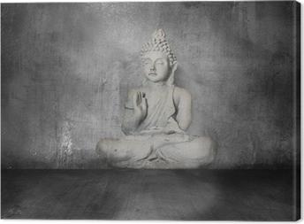 Tableau sur toile Bouddha avec grunge