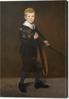 Tableau sur toile Boy with a Sword