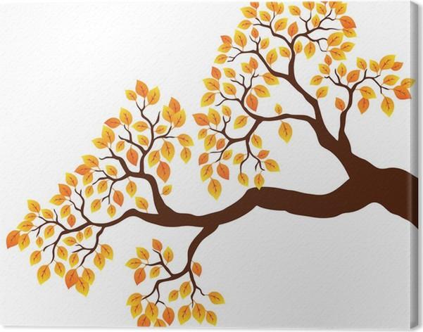 tableau sur toile branche d 39 arbre avec des feuilles d 39 oranger 1 pixers nous vivons pour changer. Black Bedroom Furniture Sets. Home Design Ideas