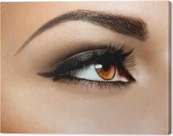 Tableau sur toile Brown Maquillage des yeux. Maquillage des yeux