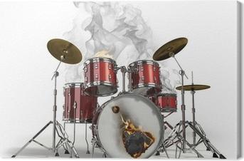 Tableau sur toile Brûler tambours