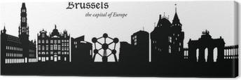 Tableau sur toile Bruxelles Cityscape