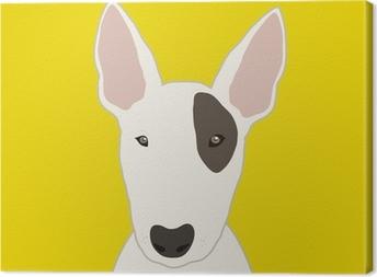 Tableau sur toile Bull terrier