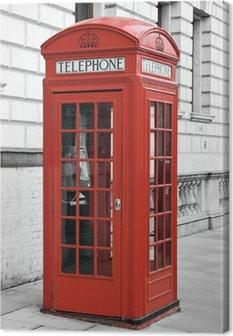 Tableau sur toile Cabine téléphonique rouge à Londres