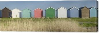 Tableau sur toile Cabines de plage colorées