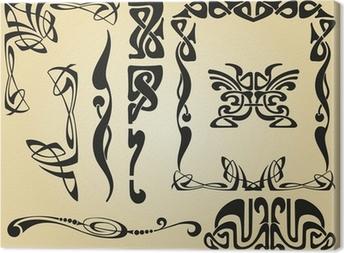 Tableau sur toile Cadre et des éléments de décoration Art Nouveau