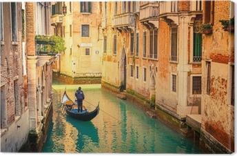 Tableau sur toile Canal à Venise.