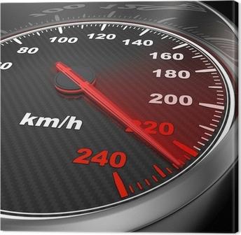 Tableau sur toile Car speedometer