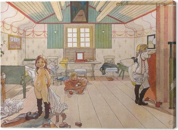 Tableau sur toile Carl Larsson - Chambre de maman et de petite fille - Reproductions