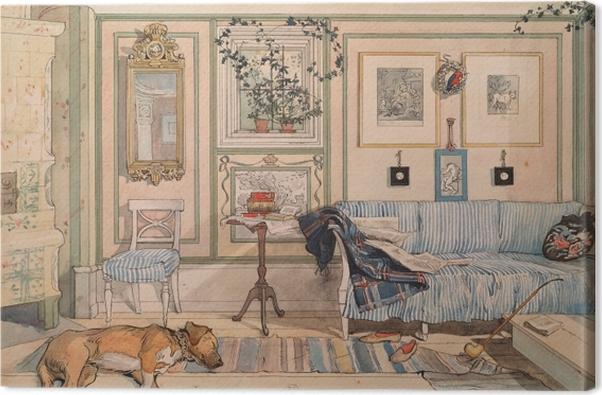 Tableau sur toile Carl Larsson - Coin paresseux - Reproductions