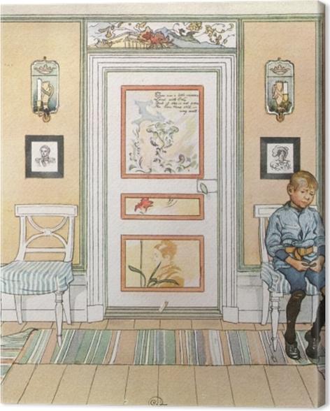 Tableau sur toile Carl Larsson - Dans le coin - Reproductions