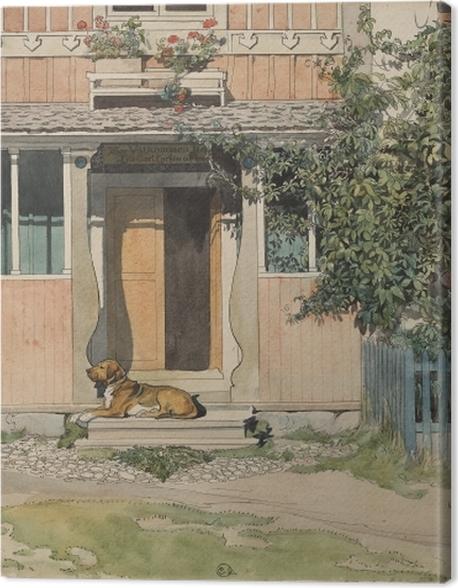 Tableau sur toile Carl Larsson - La Véranda - Reproductions