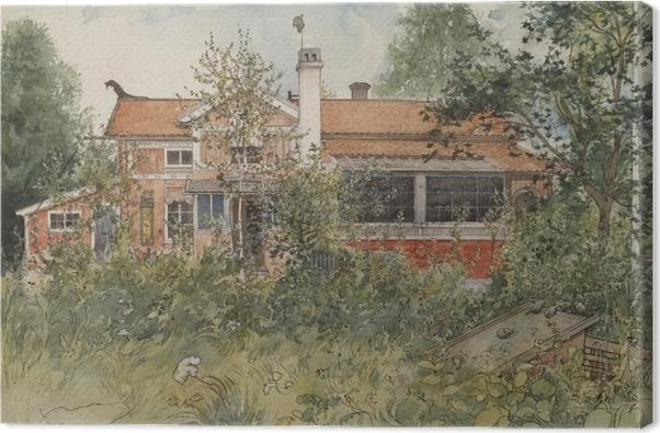 Tableau sur toile Carl Larsson - Maison au soleil - Reproductions