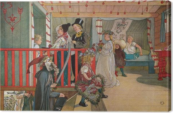 Tableau sur toile Carl Larsson - Nom du jour dans le hangar - Reproductions
