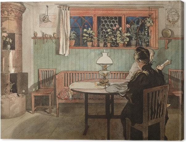 Tableau sur toile Carl Larsson - Quand les enfants sont couchés - Reproductions