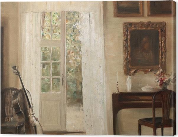 Tableau sur toile Carl Vilhelm Holsøe - Intérieur avec un violoncelle - Reproductions