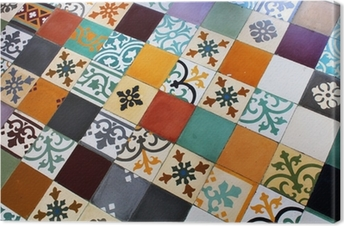 tableaux sur toile bisazza mosaic pixers nous vivons pour changer. Black Bedroom Furniture Sets. Home Design Ideas