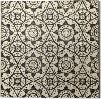 Tableau sur toile Carreaux de dentelle fond 2
