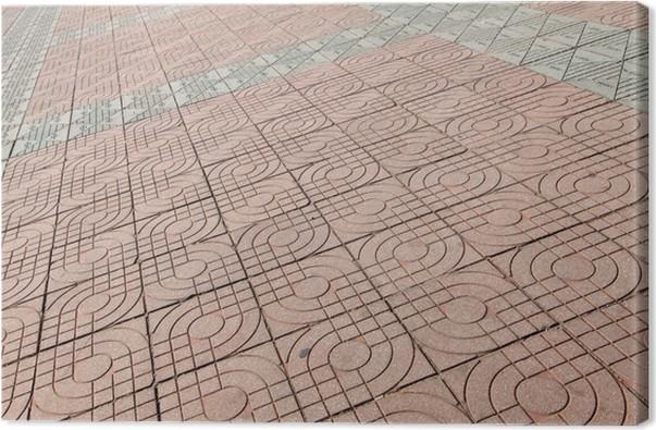 tableau sur toile carreaux de sol en ciment pixers nous vivons pour changer. Black Bedroom Furniture Sets. Home Design Ideas
