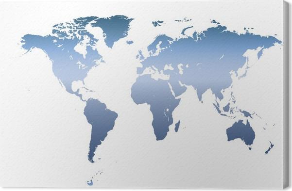 Carte Du Monde Détaillée tableau sur toile carte du monde détaillée des vecteurs • pixers