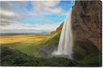 Tableau sur toile Cascade en Islande - Seljalandsfoss