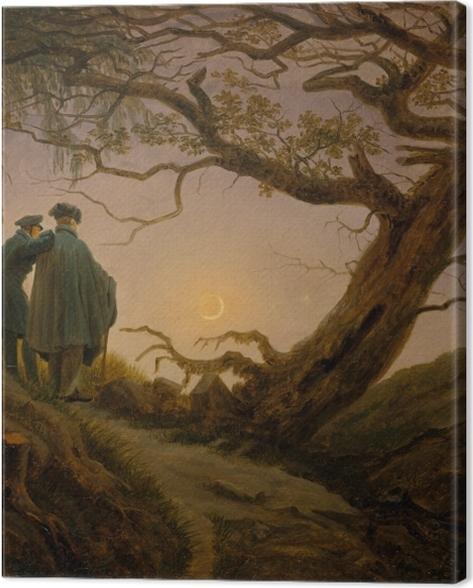 Tableau sur toile Caspar David Friedrich - Deux hommes contemplant la lune - Reproductions
