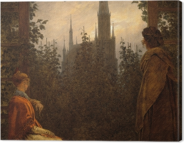 Tableau sur toile Caspar David Friedrich - Gazebo à Greifswald - Reproductions