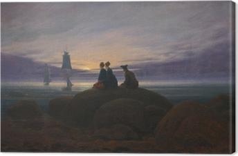 Tableau sur toile Caspar David Friedrich - Lever de la lune sur la mer II