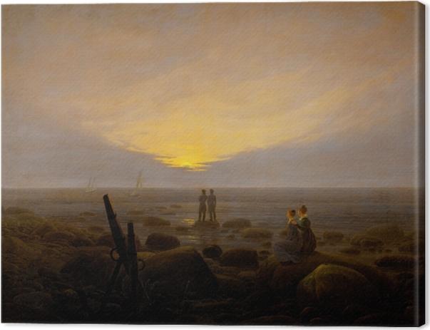 Tableau sur toile Caspar David Friedrich - Lever de lune sur la mer - Reproductions