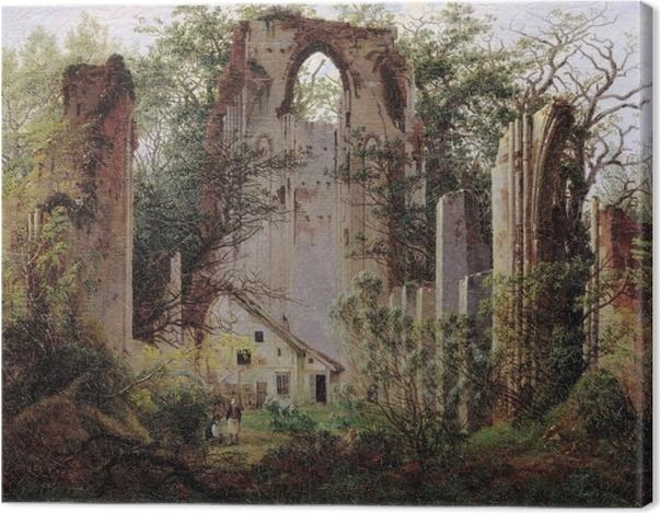 Tableau sur toile Caspar David Friedrich - Ruine du monastère Eldena - Reproductions