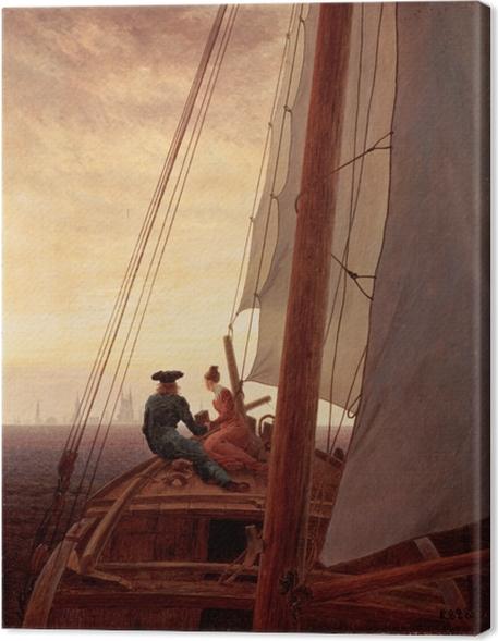 Tableau sur toile Caspar David Friedrich - Sur un bateau à voile - Reproductions