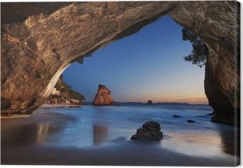 Tableau sur toile Cathedral Cove - Nouvelle-Zélande