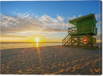 Tableau sur toile Célèbre le lever du soleil de Miami South Beach