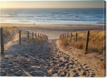 Tableau sur toile Chemin d'accès à la mer au coucher du soleil