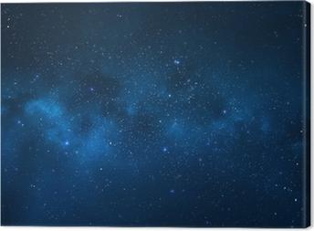Tableau sur toile Ciel de nuit - Univers rempli d'étoiles, nébuleuses et galaxies