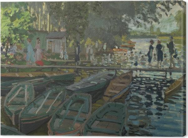 Tableau sur toile Claude Monet - Baigneurs à la Grenouillère - Reproductions