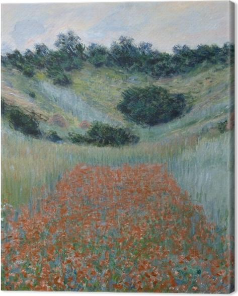 Tableau sur toile Claude Monet - Champ de coquelicots, environs de Giverny - Reproductions