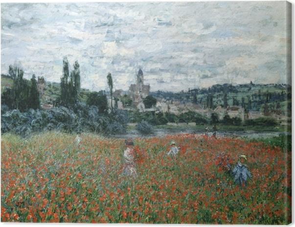 Tableau sur toile Claude Monet - Champ de coquelicots près de Vétheuil - Reproductions