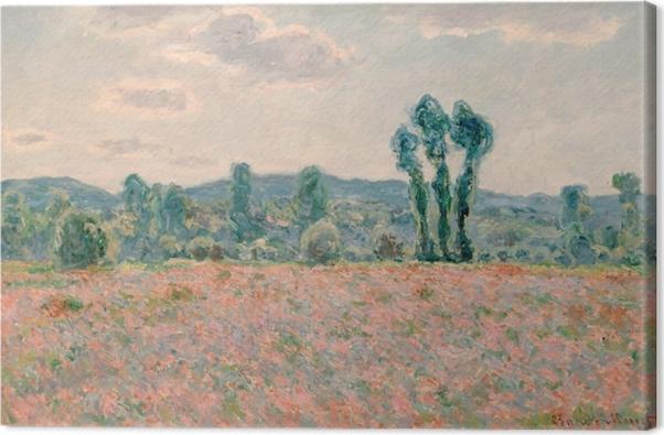 Tableau sur toile Claude Monet - Champ de coquelicots - Reproductions