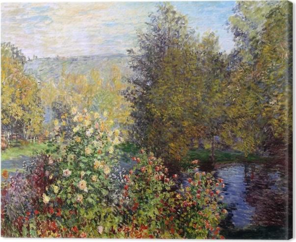 Tableau sur toile Claude Monet - Coin de jardin à Montgeron - Reproductions