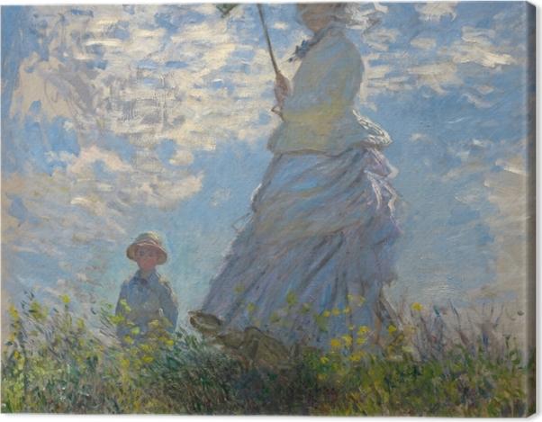 Tableau sur toile Claude Monet - Femme à l'ombrelle tournée vers la droite - Reproductions