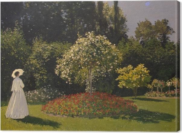 Tableau sur toile Claude Monet - Femme au jardin - Reproductions