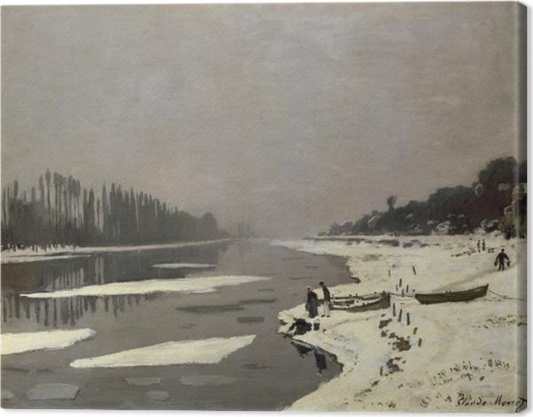 Tableau sur toile Claude Monet - Glaçons sur la Seine à Bougival - Reproductions