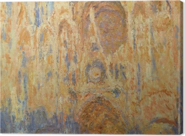 Tableau sur toile Claude Monet - La Cathédrale de Rouen, façade, soleil couchant - Reproductions