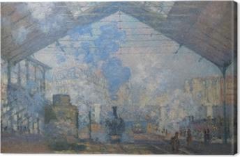 Tableau sur toile Claude Monet - La Gare Saint-Lazare