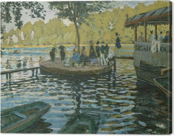 Tableau sur toile Claude Monet - La Grenouillère - Reproductions